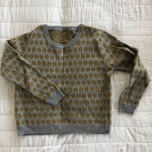 Sweaters - Korean Fashion Oversized Sweater with leaves print